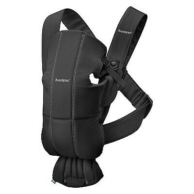 BABYBJ–RN Baby Carrier Mini Cotton - Black