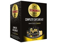 Simoniz Complete Car with Care Cleaning Kit Interior Exterior Valet Wax Shampoo