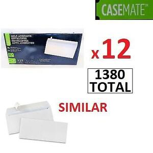 "NEW 12PK CASE OF CASEMATE ENVELOPES MICAN-7 188375463 1380 TOTAL - 115 PER PACK - 12 PACK  4 1/8"" x 9 1/2"""