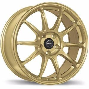 FAST DIME ( re40) wheels, 18x8 and 18x9.5 in gold in stock or matt blue