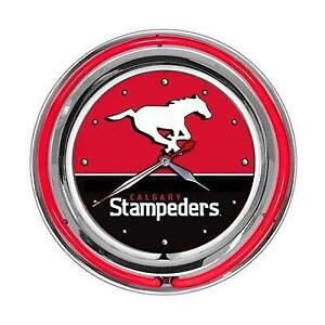 Calgary Stampeders Double Neon Clock (New) Calgary Alberta Preview