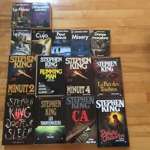 Lot de 14 thrillers de Stephen King pour 70$