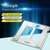 Triomph Smart Digital Bathroom Scale:Large Clear LCD Display