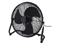 "Large 18"" High Velocity Power Floor Fan - Black Finish 3 Speed NO OFFERS"