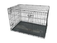 XL Dog cage and plastic large bed