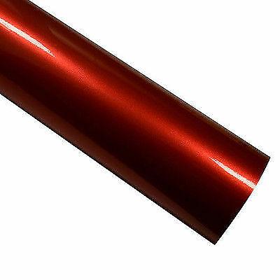Autofolie metallic Rot hochglänzend 152 cm x 50 cm Luftkanäle