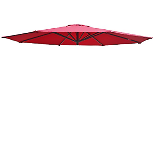 Umbrella Cover Canopy 10ft 8 Rib Patio Replacement Top Outdoor-Burgundy