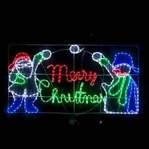 LED Tinsel Merry Christmas Rope Light Display Eastwood Ryde Area Preview