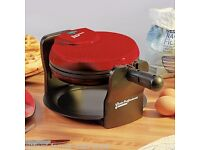 Cooks Professional Rotary Waffle Maker (Red) **BRAND NEW**