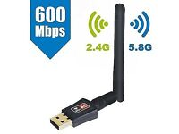Wifi Dongle, AC600 802.11ac Dual Band 5GHz Mini Wireless Network USB Wifi Adapte