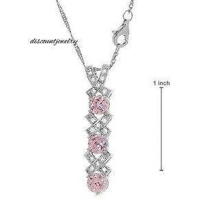 gorgeous pink CZ pendant to show you love