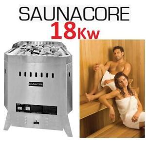 NEW* SAUNACORE 18Kw SAUNA HEATER - 125464243 - FLOOR MOUNT SAUNA STOVE STAINLESS STEEL