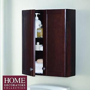 "NEW BATHROOM STORAGE CABINET 21"" MDOJ25COM-CN 190672207 HOME DECORATORS COLLECTION Madeline 21 in. W  Chestnut"
