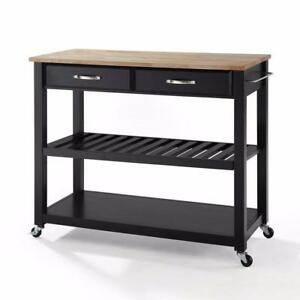 Crosley Furniture KF30051BK Kitchen Island Black NEW