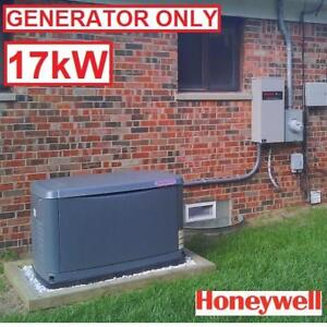 AS IS HONEYWELL 17KW GENERATOR - 129001842 - AUTOMATIC STAND BY GENERATORS SAFETY TRANSFER SWITCH NATURAL GAS OR PROPANE