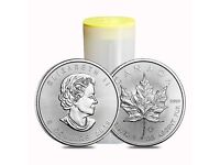 1 oz 2019 Canadian Silver Maple Leaf brilliant uncirculated pure 9999 Silver Coins