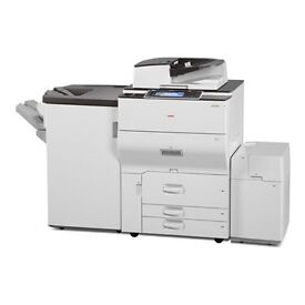 Leaflet printer, booklet, Light production Ricoh Mpc 6502, 62 pages per minute. Fully Refurbished.