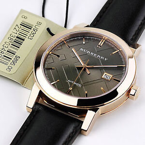 Burberry rose gold plated SAPPHIRE CRYSTAL self winding watch London Ontario image 1