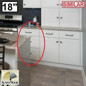 "NEW* SUNNYWOOD SHAKER HILL CABINET - 134256015 - 18"" DRAWER BASE 3 DRAWERS KITCHEN CABINETS STORAGE ORGANIZATION ORGA..."