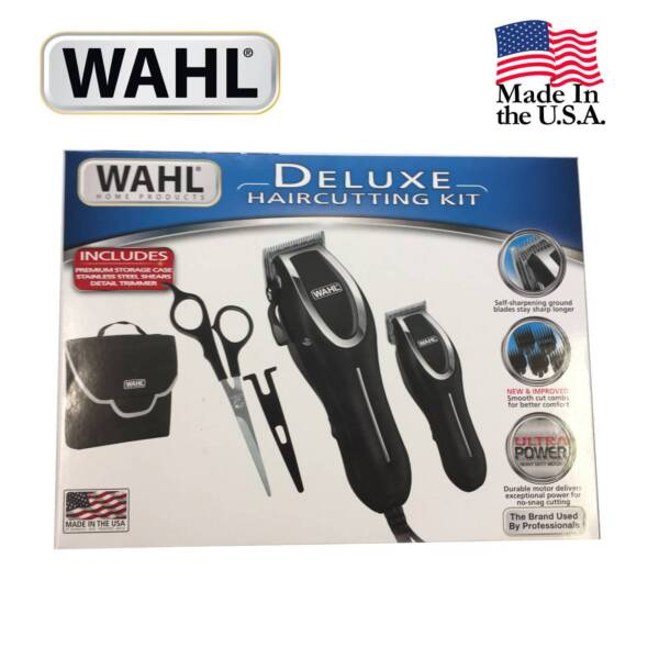 Wahl deluxe hair clippers trimmer shears 23 pc haircutting set 1 of 2 solutioingenieria Image collections