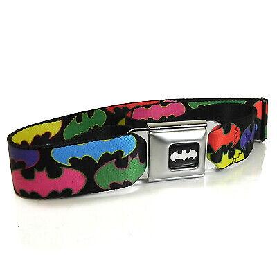 Batman Random Logo Multi Color Auto Seatbelt Buckle Strap Belt for Kids
