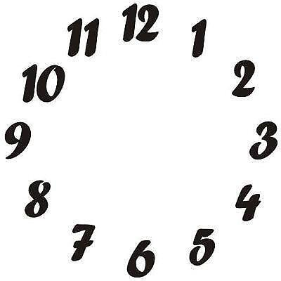Self Adhesive Clock Numbers Ebay