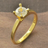 Elegant 9K Gold Filled CZ Womens Ring,New,Size 9 F4715