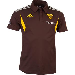 HAWTHORN  2016 OFFICIAL MEN'S MEDIA POLO - BNWT! Size: LARGE
