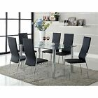 Black Glass Dining Table Dining Furniture Sets