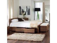 New Dwell King Size Notch Bed Frame Walnut