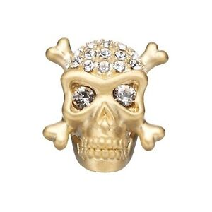 Story Jolly Roger Button Gold Plated - charm STORY by Kranz & Zi