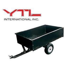 NEW YTL STEEL DUMP CART YTL22102 139836029 YARD COMMANDER 1500 LB CAPACITY WITH TOW