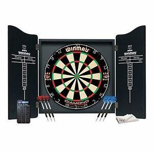 New Winmau Dart Board Cabinet Set FREE SHIPPING dartboard darts unicorn harrows flights bristle sisle