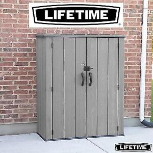 NEW* LIFETIME VERTICAL STORAGE SHED 60209U 211428528 UV PROTECTED LOW MAINTENANCE LOCKABLE POLYETHYLENE