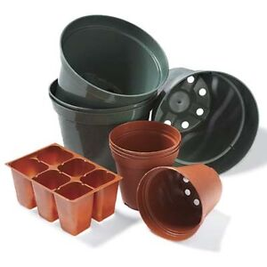 Assorted planting pots for garden - greenhouse