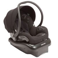 Maxi Cosi Mico car seat with 2 bases and stroller