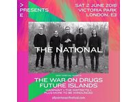 2x Tickets to THE NATIONAL Plus Very Special Guests Victoria Park Saturday, 02 Jun 2018 at 12:00 PM