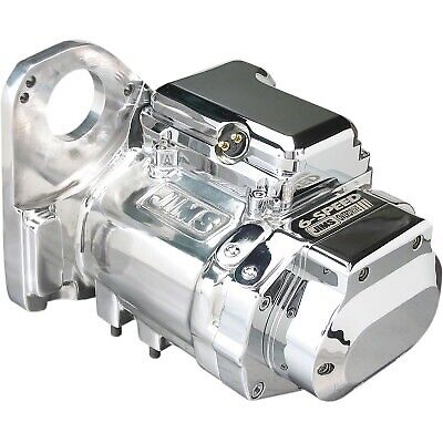 Jims - 8004C6 - 6-Speed Precision-Cut Transmission (2.94 1st Ratio), Polished Ha