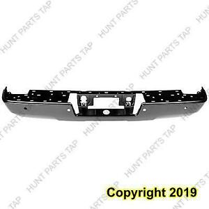 Bumper Rear Black Ptm  Without Corner Step With Sensor 1500 Chevrolet Silverado 2014