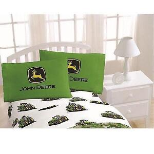 John Deere Tractor Twin Sheet 3 Pcs Set Official Licensed