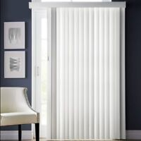 NIB Vertical Blinds with Valence, White