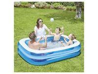BRAND NEW! Kids Paddling Pool 2m x 1.5m, Carousel Children's Inflatable Pool