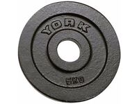 YORK HAMMERTONE OLYMPIC WEIGHT PLATES 40KG(8 X 5 KG) GREAT OFFER IDEAL ADDITIONAL WEIGHT OR DUMBELLS