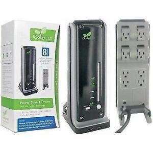 iGo Green Power Smart Tower - $25,000 Warranty 8 Outlets, 4320 J