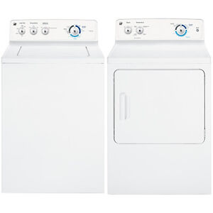 BRAND NEW WASHER DRYER GE TOP LOAD PAIR.MODEL.GTW180SSJWW
