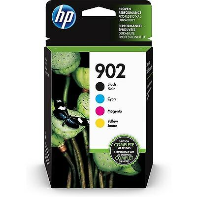 HP 902 | 4 Ink Cartridges |Black, Cyan, Magenta, Yellow|T6L98AN,T6L86AN,T6L90AN
