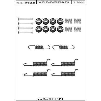 Zubehörsatz, Feststellbremsbacken QUICK BRAKE 105-0821
