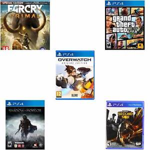 5 Ps4 Games With Covers & Inctruction Booklets In Mint Condition Parkinson Brisbane South West Preview