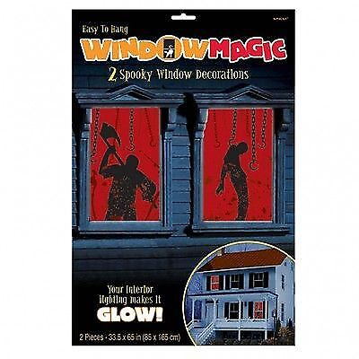 Halloween Fenster Dekoration BLUTIGE FENSTER Grusel Party Themenparty Gothic
