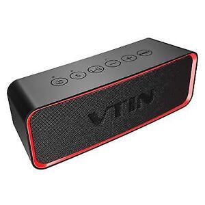 Vtin Waterproof Portable Bluetooth Speaker With Hifi-tec Enh